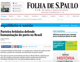 FOLHA DE SÃO PAULO - 15/10/2014