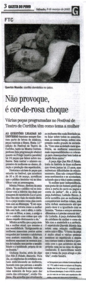 Gazeta do Povo - 08/03/2003
