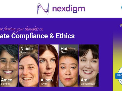 Nexdigm Podcast: Corporate Compliances and Ethics Week with Amii Barnard-Bahn