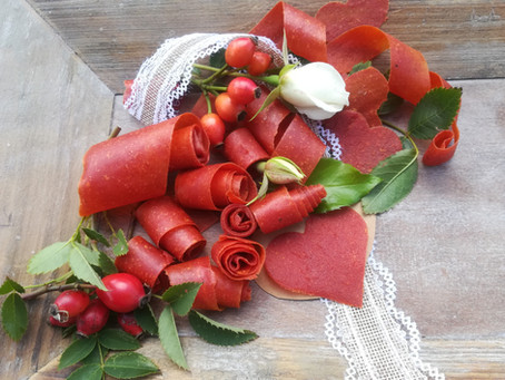 Hagebutten-Fruchtleder, eine gesunde Nascherei