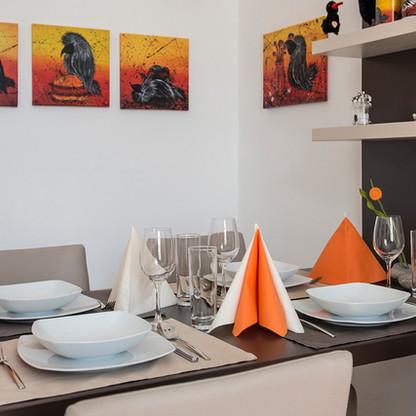Galerie-Apartment REFUGIUM - Essbereich
