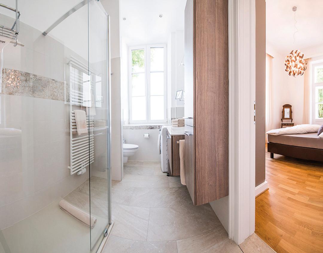 Refugium - Bad und Schlafzimmer