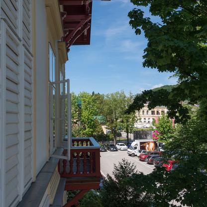 Blick Richtung Villa Seilern
