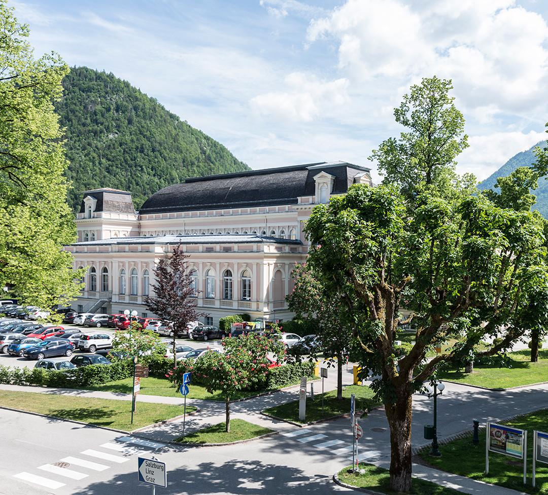 Blick zum Kongress- und Theaterhaus