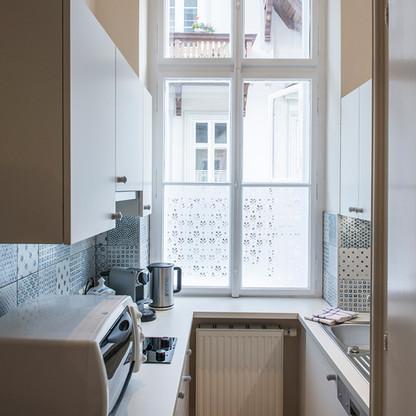 Nostalgie-Apartment KLEINOD - Küche