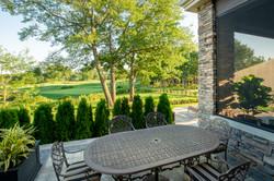 Rear yard & Golf course
