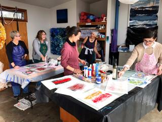 Monoprinting Studio Workshop monoprint