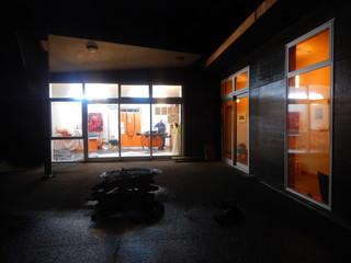 Gaylene working in Studio pre Muriwai Arts Open Studios 2019