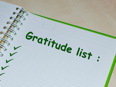 What's on your gratitude list?