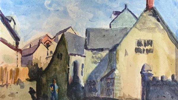 Watercolor Manor (Print)