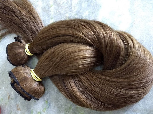 Straight Brazilian Human Hair With Wicks, 60cm, 1 piece with 100 grams in total