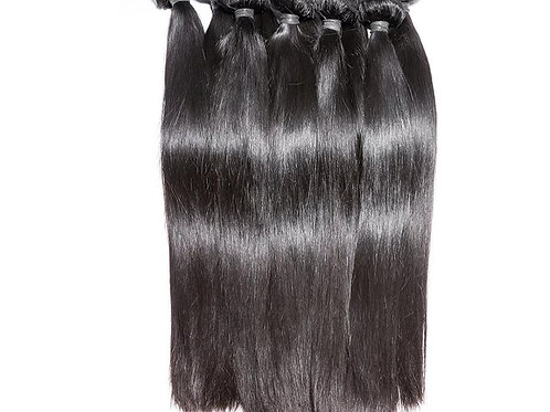 Straight Brazilian Human Hair, 65cm, 1 piece with 100 grams in total