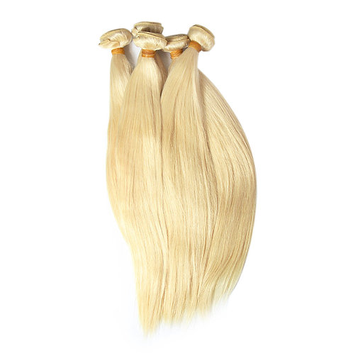 Straight Brazilian Blond Human Hair, 60 cm, 1 piece with a total of 100 grams