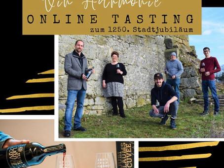 Online Tasting zum 1250. Stadtjubiläum am 17. April 2021