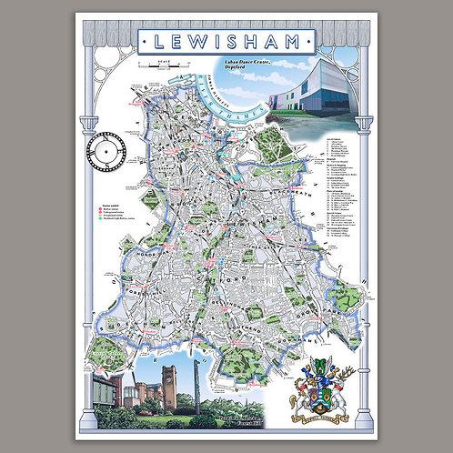 Lewisham illustrated map