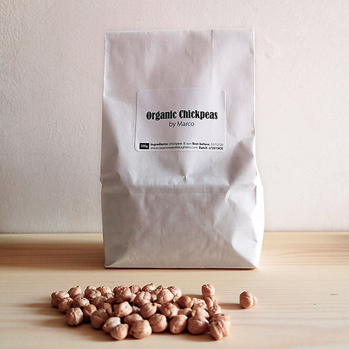Organic chickpeas by Marco 500gr