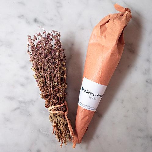 Dried basil flower - genovese