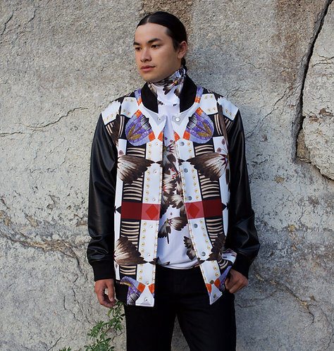 Shell, Quilled, Feathered jacket