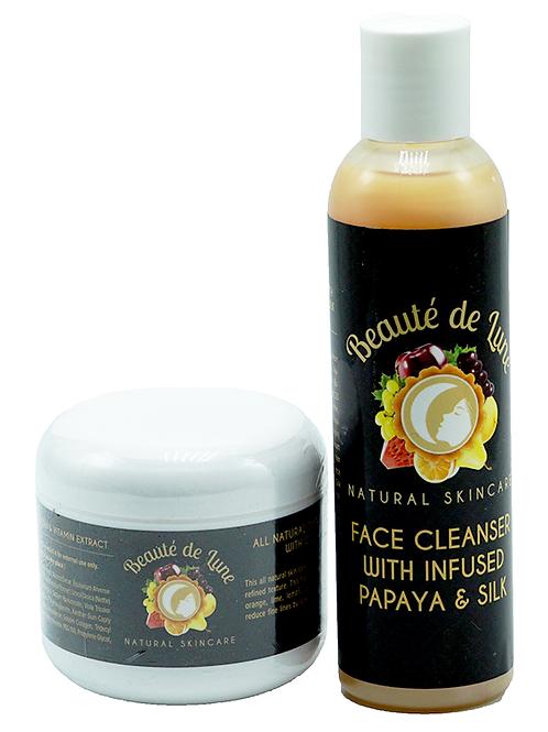 Starter Pack – Papaya Cleanser + 4 oz Cream
