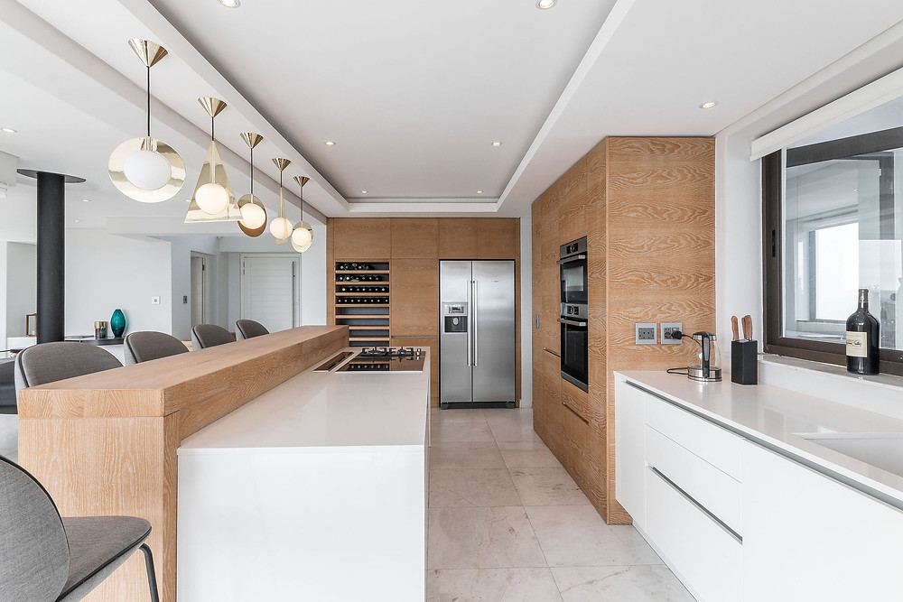 Property Photography of a luxury kitchen in home located in Cape Town and shot for Real Estate Agent.