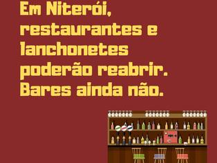 Restaurantes e lanchonetes reabrirão em Niterói a partir do dia 13 de julho