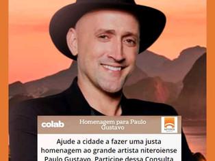 Em luto oficial, Niterói promove campanha por mudança de nome de rua em homenagem a Paulo Gustavo