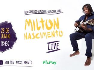 Milton Nascimento estreia em 'live de quarentena'