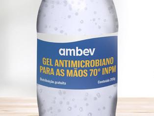 Ambev anuncia produção de álcool gel para doar a hospitais públicos