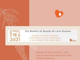 Dia Mundial de Doação de Leite Humano é celebrado em 19 de maio