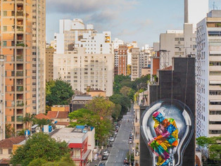 'Seja Luz' é o novo mural de Eduardo Kobra em São Paulo