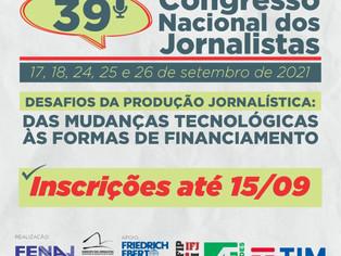 39o Congresso dos jornalistas vai apresentar proposta para taxar plataformas digitais