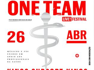 Festival #OneTeam vai arrecadar dinheiro para compra de equipamentos para médicos