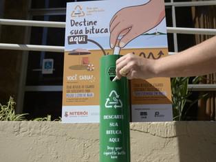 Niterói instala coletor de bituca de cigarro