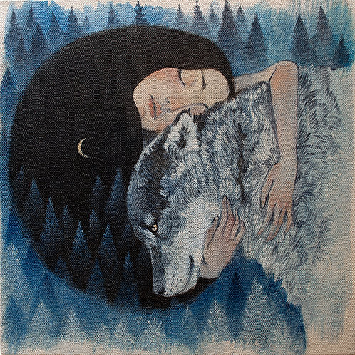 Wolf Mother limited edition giclée print, framed