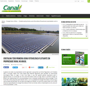 Publicação no Canal - Jornal da Bioenergia