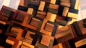 Mẫu gỗ ốp tường 3D đẹp: Gạch mosaic gỗ 3D trang trí nội thất