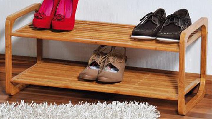 Giá để giầy dép đa năng 100% tre tự nhiên - hàng lắp ráp xuất khẩu
