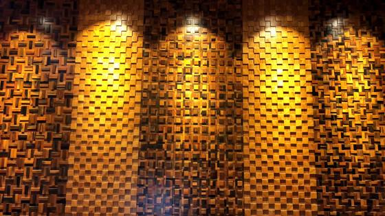 Ốp tường gỗ mosaic 3D trang trí nội thất - vẻ đẹp vượt thời gian