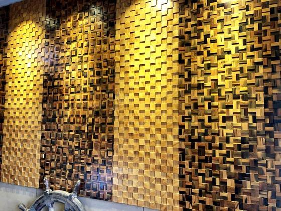 Ốp tường gỗ mosaic 3D - Vẻ đẹp vượt thời gian của mọi công trình