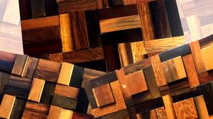 Mẫu gỗ ốp tường phòng khách đẹp: Gạch mosaic gỗ 3D trang trí nội thất