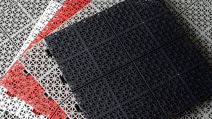 Jula - Vỉ nhựa lót sàn ban công (30x30x1cm, 1m2=11vỉ) - Màu Trắng / White