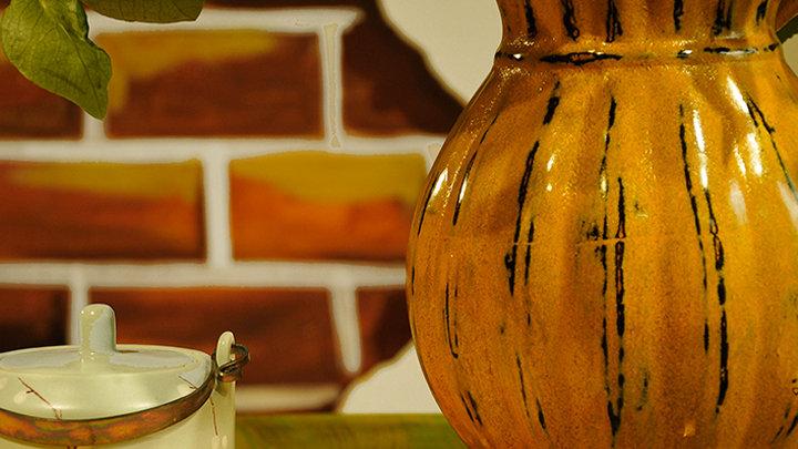 Lọ hoa gốm sơn mài Good Homes - Phú Quý Affluence - Rustic Style - Hàng thiết kế