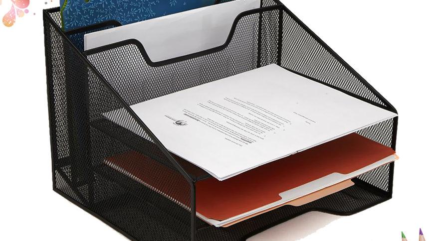 Giá kệ tài liệu để bàn văn phòng 5 ngăn đa năng lưới thép sơn tĩnh điện