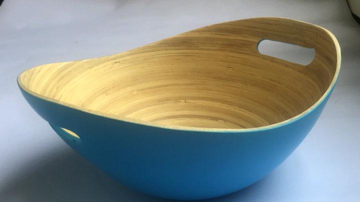 Ice Blue - Khay bát tre hình thuyền đựng hoa quả bánh kẹo, salad