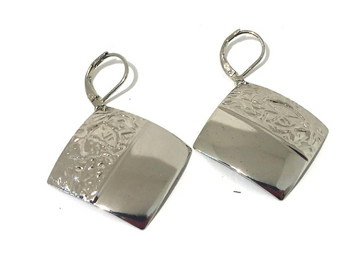 Silver Dipped Square Tulum Earrings