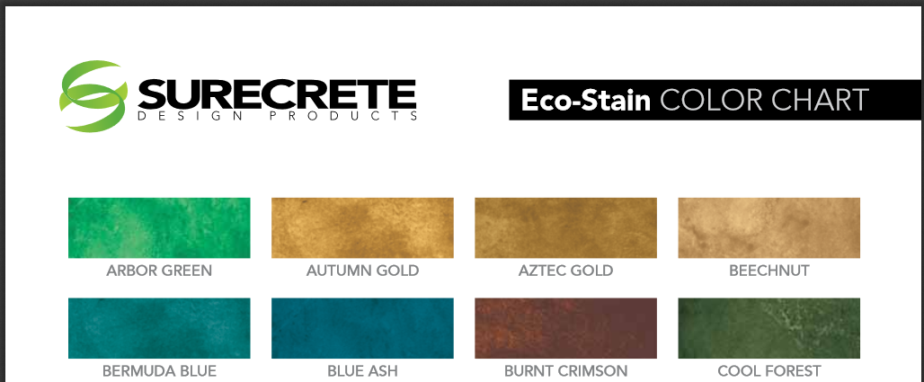 ECO STAIN COLOR CHART - 1