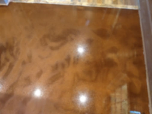 Stained Concrete, Stain, Striping