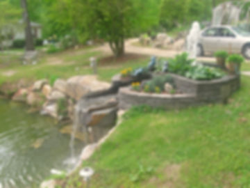 fountains ponds water features stone