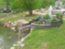 Stone, Pond, Fountain, Water Feature, Planter, Stack, Stone