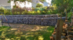 Stone, Gabion wall, retaining wall